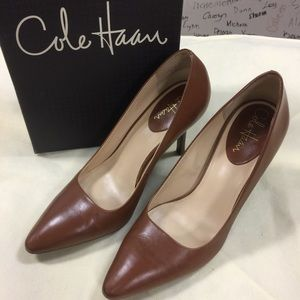 Sexy cognac pointy toe heel by Cole Haan